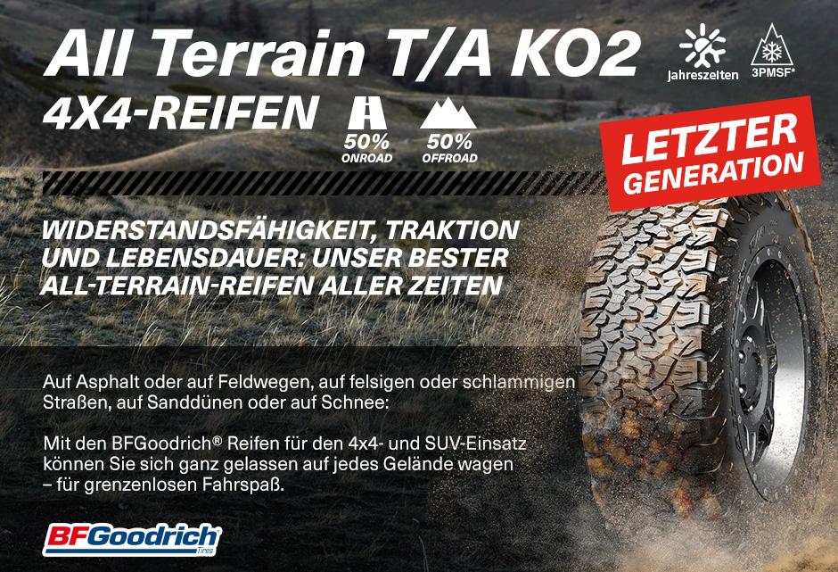 B//F//74dB BFGOODRICH ALL-TERRAIN T//A KO2-265//60//18 119S Gel/ändereifen